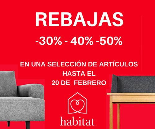 Habitat - Rebajas 30%, 40%, 50%